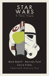 Star Wars a new hope minimalistic poster