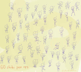 60 chibi pose references