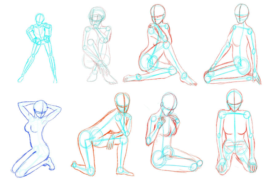 How To Draw Anime Characters Sitting Down