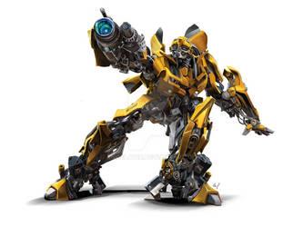 Bumblebee transformers digital paint
