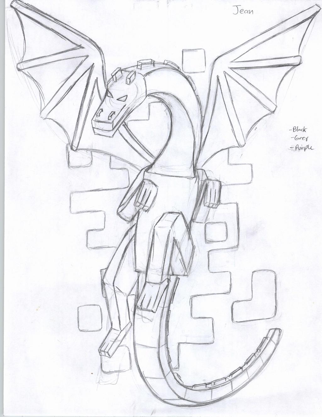 Как рисовать драконов из майнкрафта