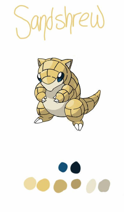 Sandshrew - Pokemon Doodle #3 by phantomsketchy