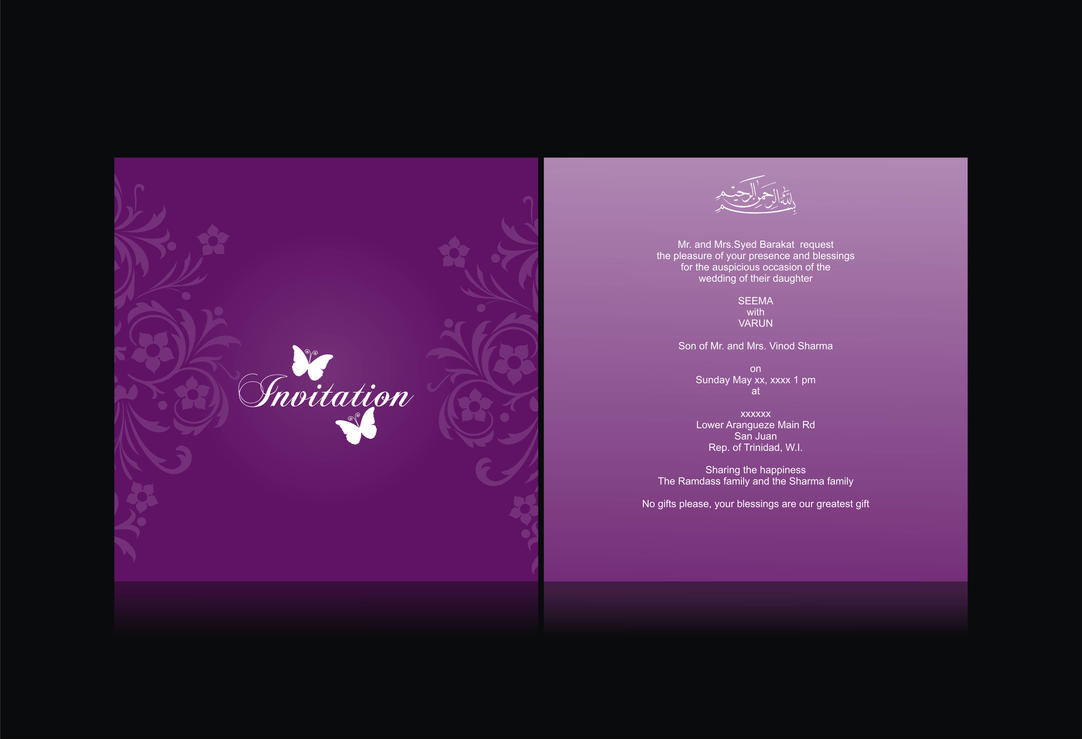 Wedding invitation card by syedmaaz on deviantart wedding invitation card by syedmaaz stopboris