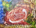 Calligraphy painting Quranic Ayet 4