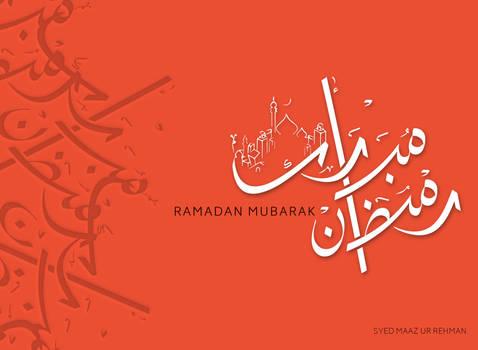 Calligraphy Ramadan Mubarak