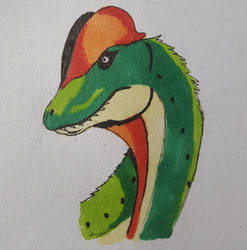 Dilophosaurus by OddMod-7