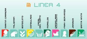 Iconografia de la Linea 4 del STC-CDMX