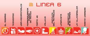 Iconografia de la Linea 6 del STC-CDMX