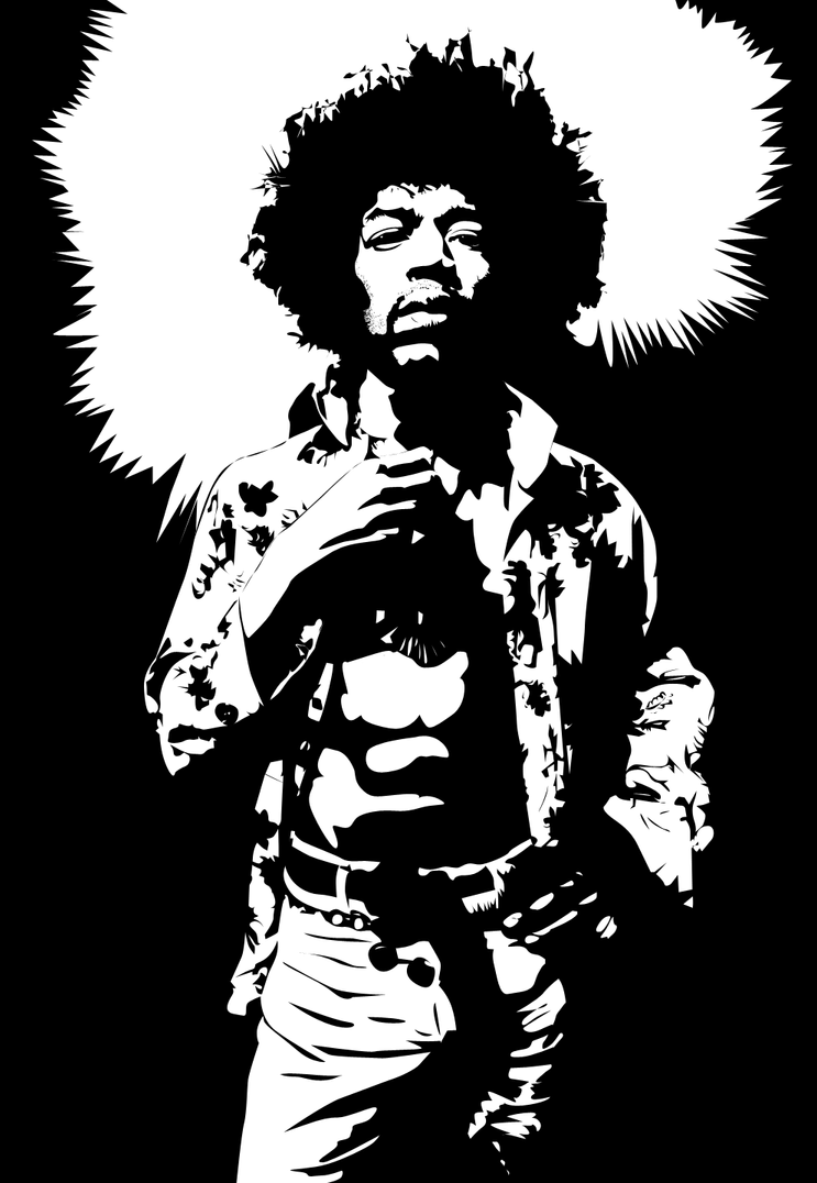 Jimi Hendrix Vector By Kevin2407