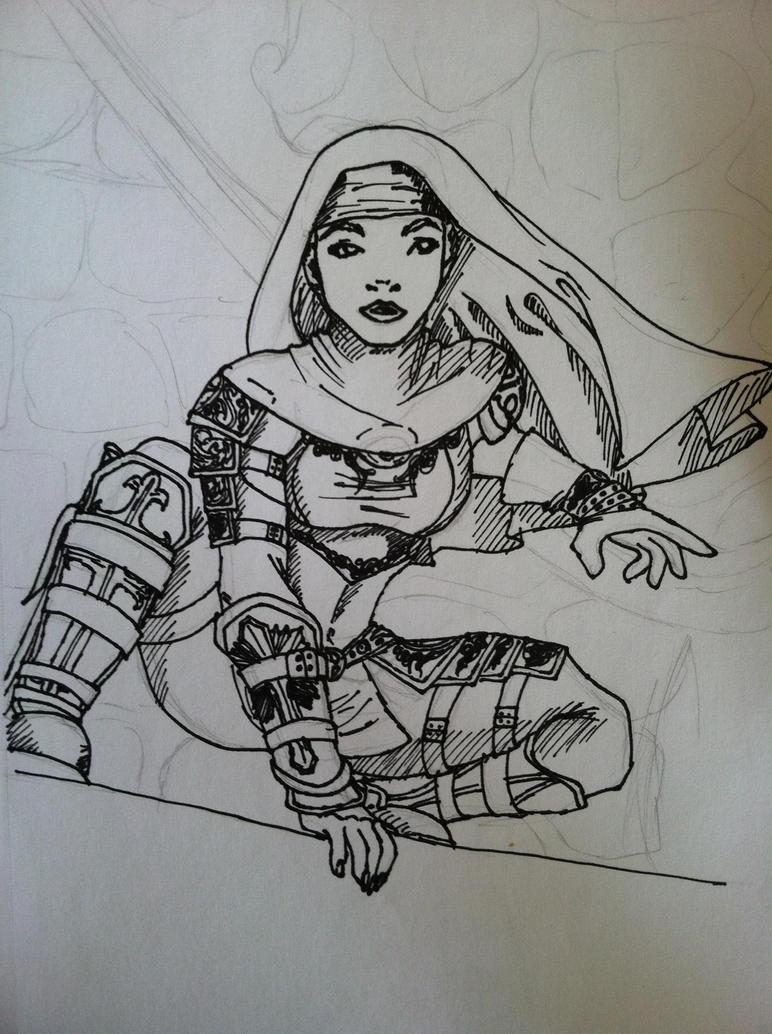 Ninja Nun by gaiajuliacaesar