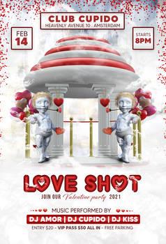 Love-shot Valentines Party Flyer