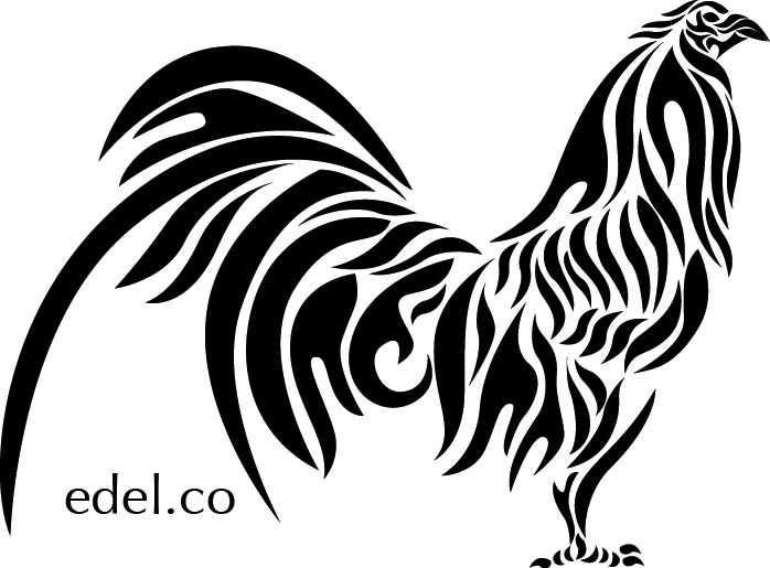 Line Art Rooster : Rooster peleador by edelart on deviantart