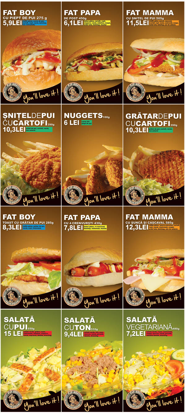 fat boy fast food posters by vladcristea on DeviantArt