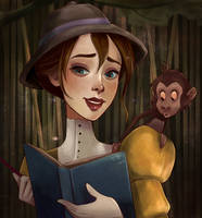 Jane VS Baby Baboon by Pastel-le