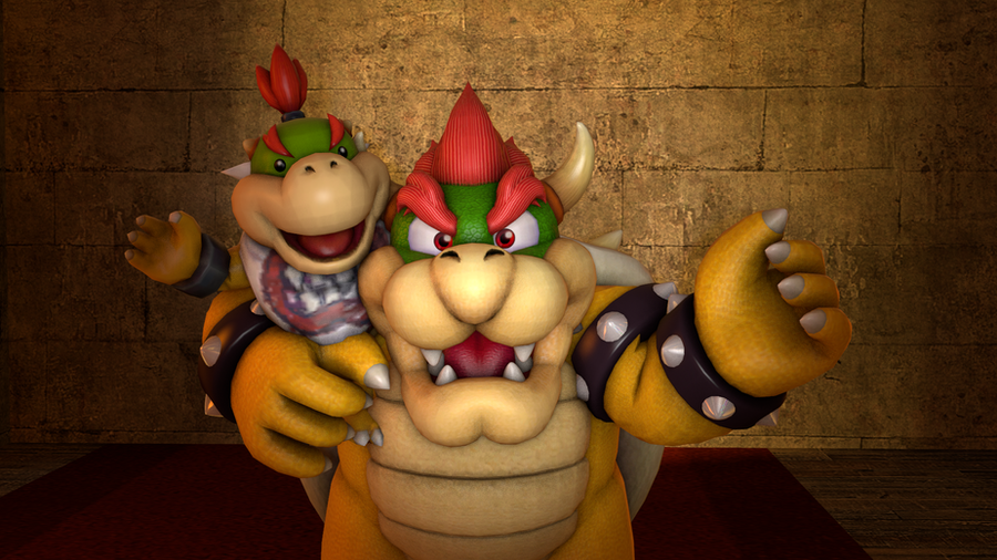 Koopa Father And Son by MarioMario9090
