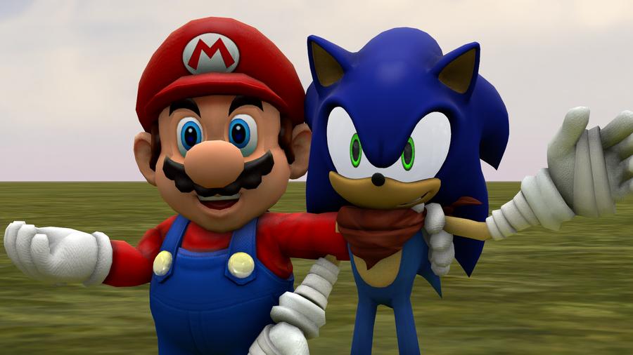 Mario and Sonic Sonic Boom styel by MarioMario9090