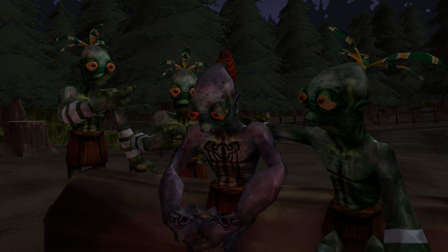 Oddworld Abe's true friends by MarioMario9090