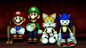 Mario and Friends at the sonic movie