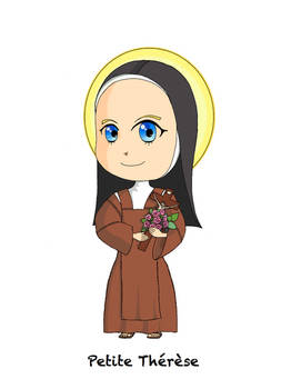 St. Therese of Lisieux chibi ! ^^