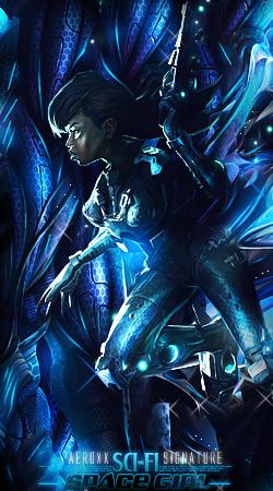 Sci Fi Girl Space Woman by AeroxxDSG