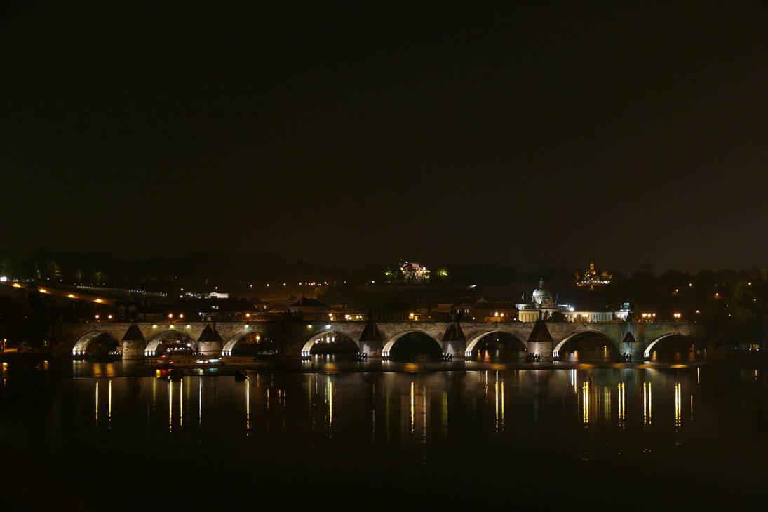 Charles Bridge at Night by AliusS