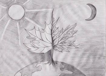 Surrealistic Leaf by Zorodora