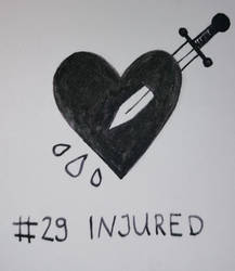 Inktober #29 - INJURED