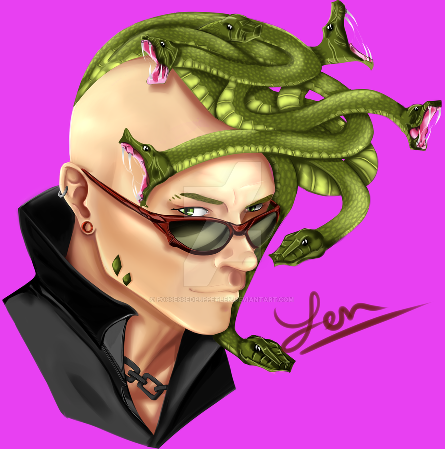 Deuce gorgon finished by possessedpuppetlen on deviantart - Monster high deuce ...