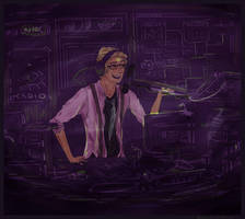 Welcome to Night Vale: Cecil Sketch by FeatherGambler