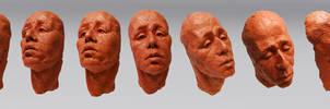 Male Head Study by Eyth