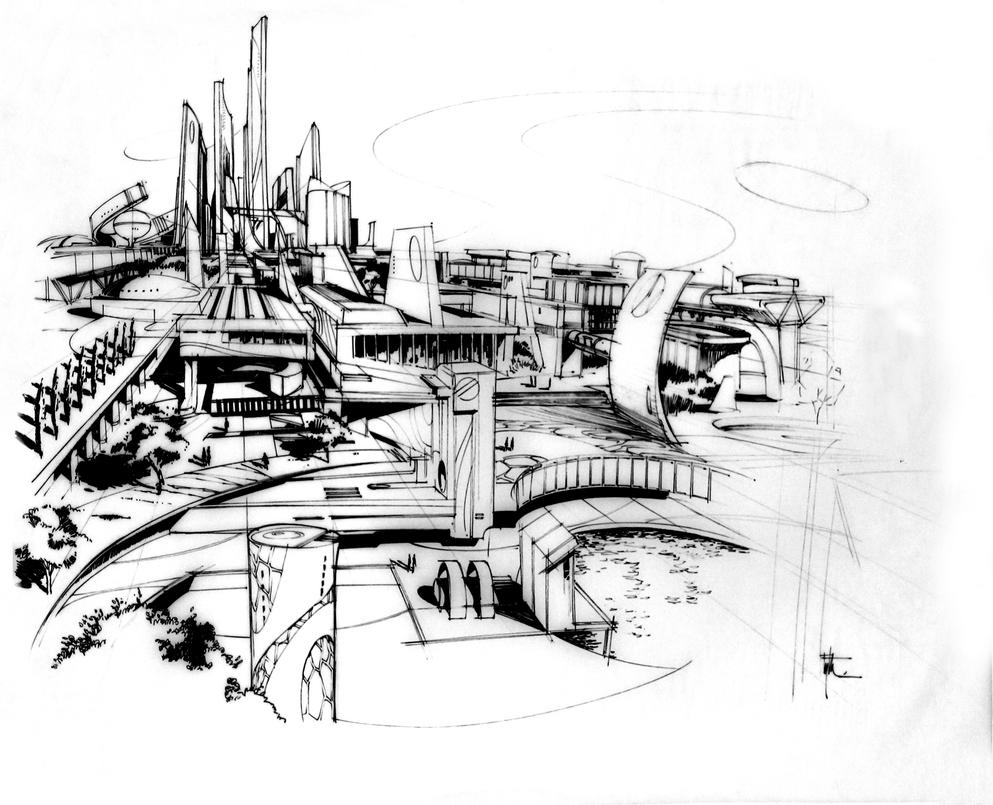 Future city design by eyth on deviantart - Fantastic modern architecture in futuristic design with owner passion ...