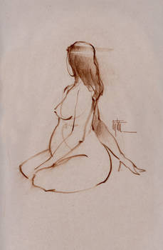 Figure Study of Pregnant Nude