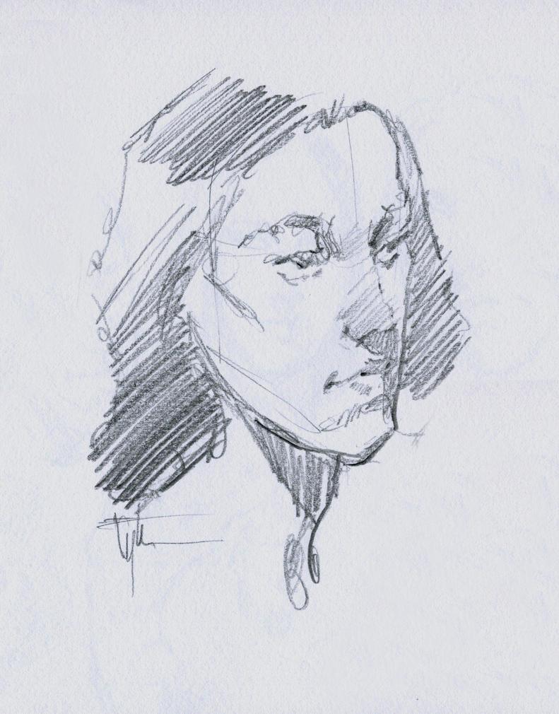 Head Study 7-14c by Eyth