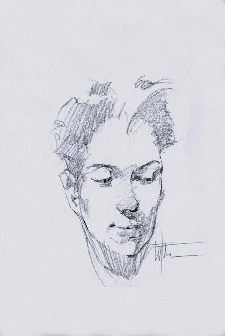 Head Study 7-14d by Eyth