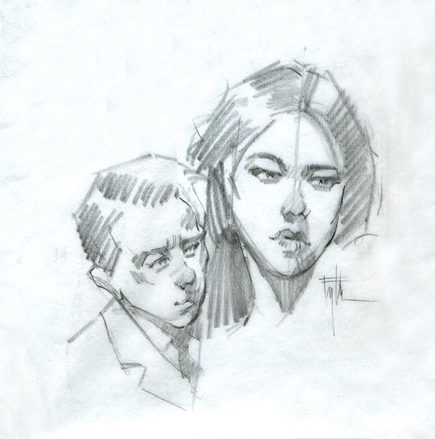 Head Studies 10-14 by Eyth