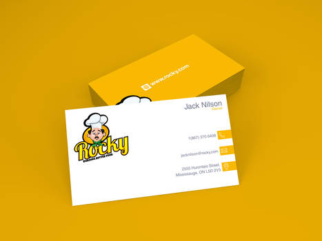 Rocky's Owner Business Cards