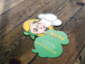 Rocky's Rstaurants Biusiness Cards by IAKhan
