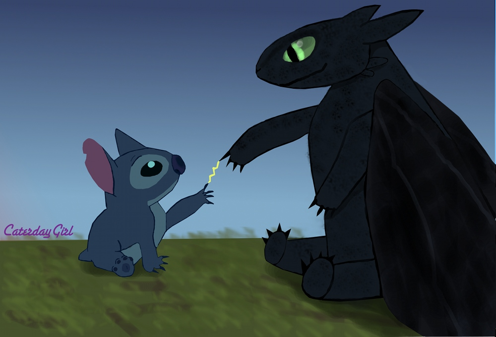 Drawing Toothless Stitch