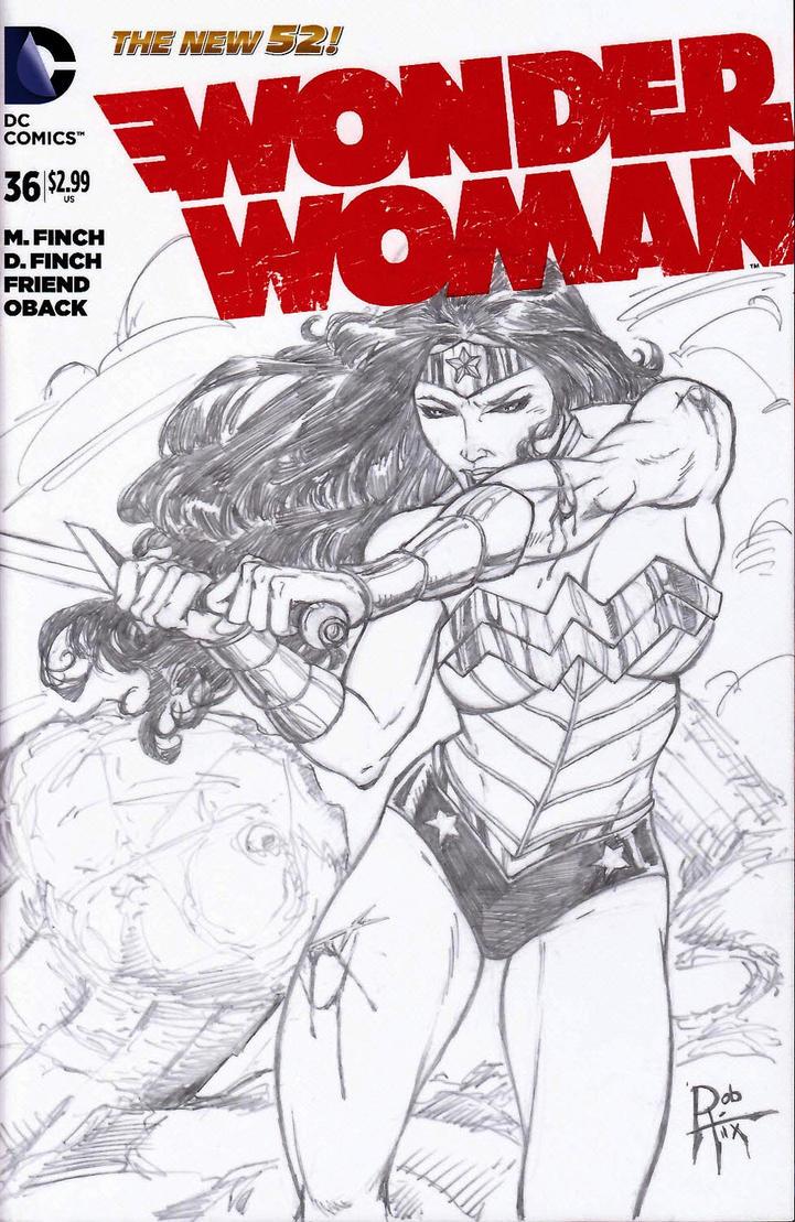 WonderWoman sketch cvr by rob-hix