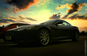 Aston Martin sunset by ScorpionEntity