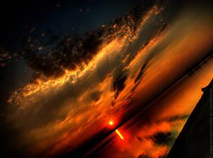 Lake at sunset HDR 02