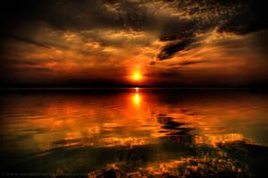 Lake at sunset HDR 03 by ScorpionEntity