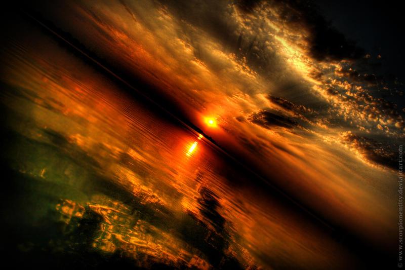 Lake at sunset HDR 04 by ScorpionEntity