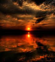 Lake at sunset HDR 05 by ScorpionEntity