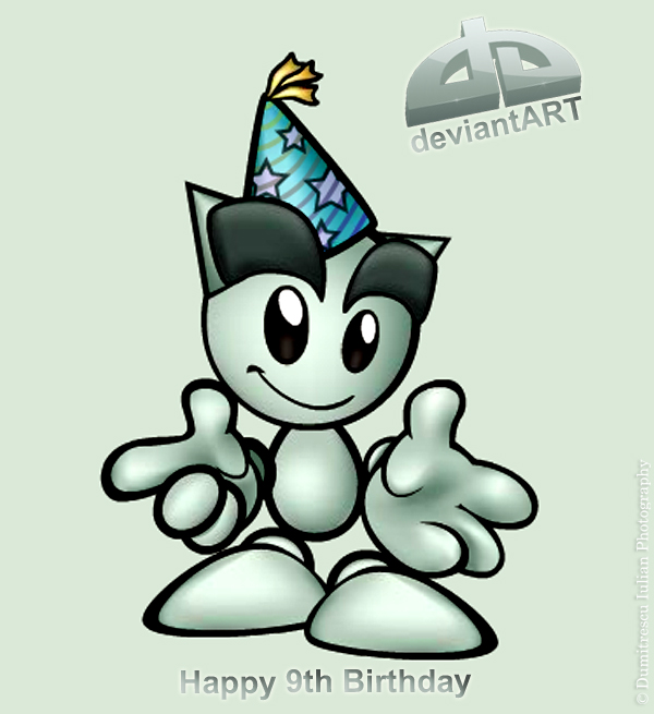 Happy 9th Birthday deviantART by ScorpionEntity
