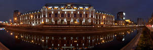 Bucharest Courthouse Panoramic