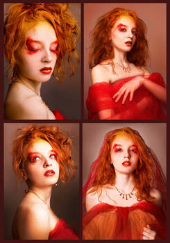 Queen of Fire - Collage
