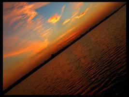 Sunset by the Lake by ScorpionEntity