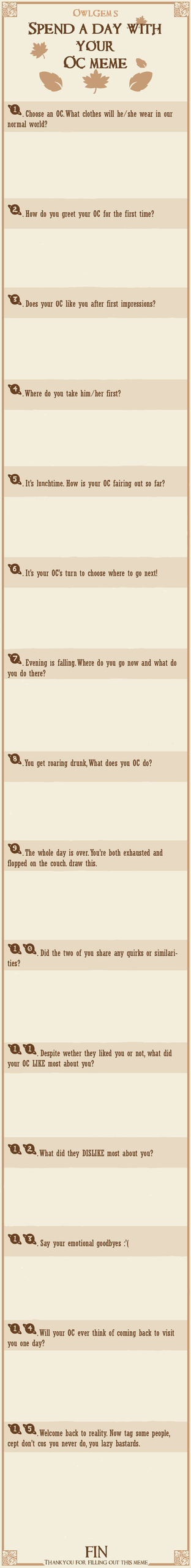 Spend a Day With Your OC Meme - Blank Template by Intelius