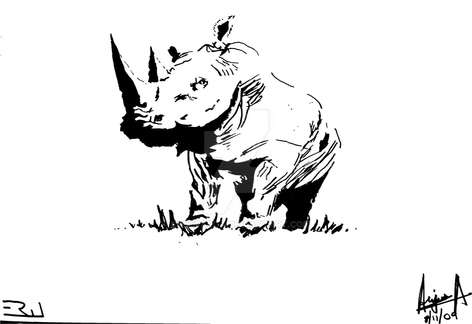 rhino stencil by eruofarda on deviantart